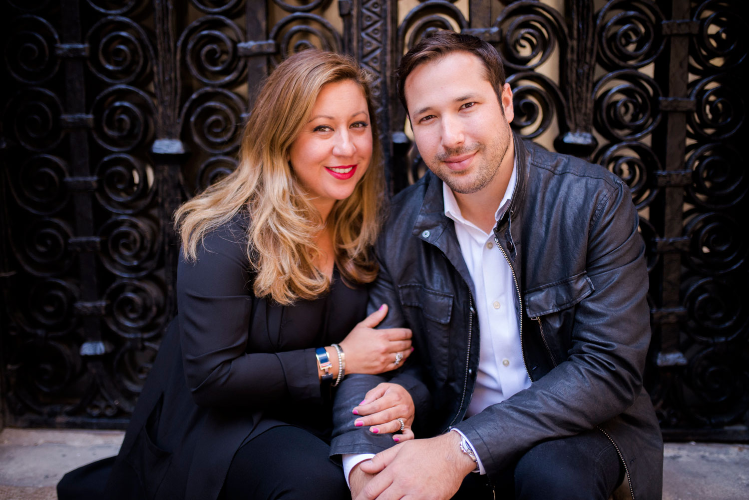 Michelle Durpetti and Collin Pierson engagement photos in Barcelona, Spain close up