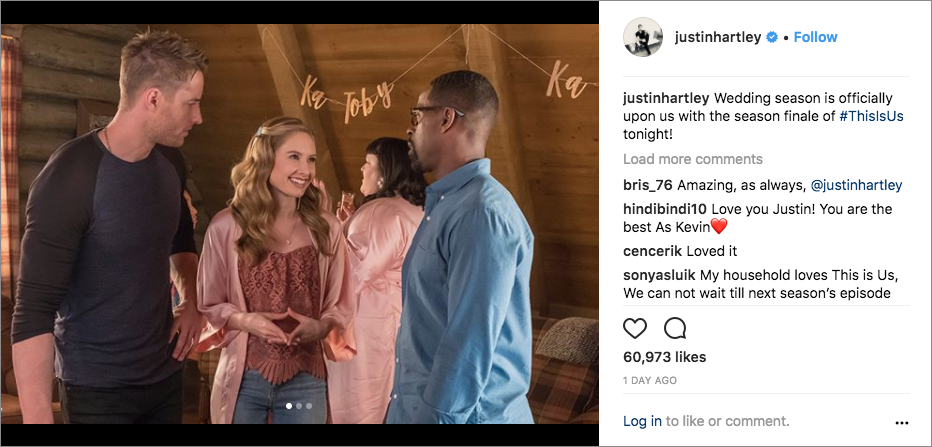 this is us, kate and toby wedding, jack and randall pearson, sterling k. brown, justin hartley