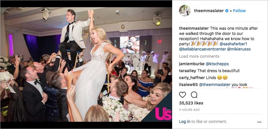 emma slater and sasha farber wedding photos, dancing with the stars couple
