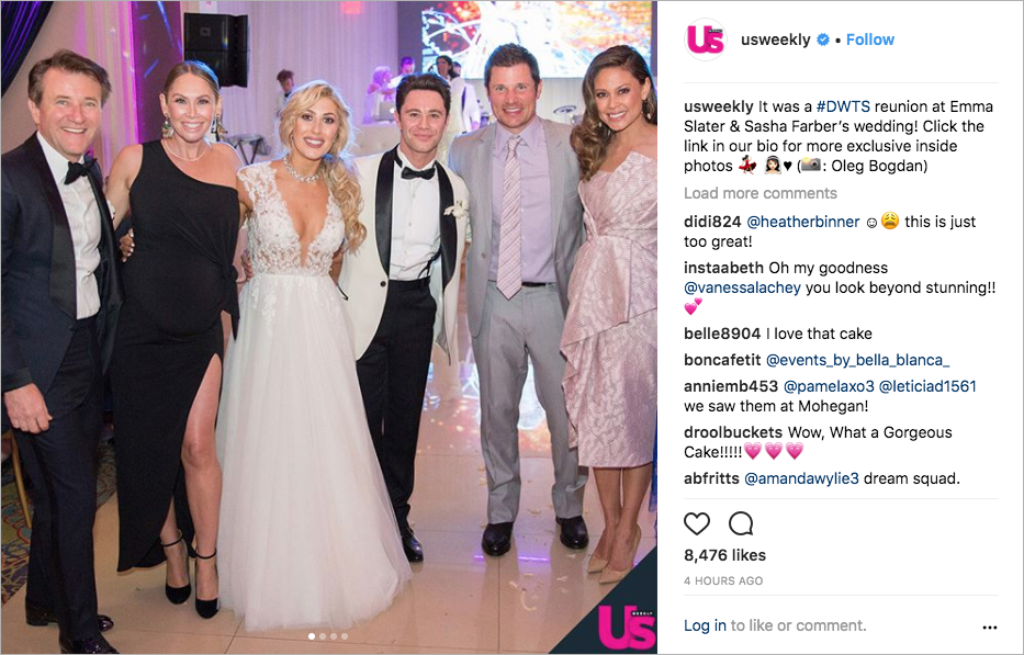 emma slater and sasha farber wedding photos, dancing with the stars couple, nick lachey & vanessa lachey