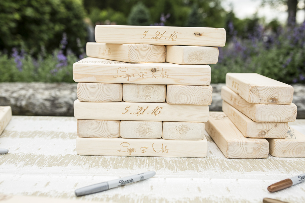 Wedding guest book ideas guestbook alternatives jenga blocks personalized