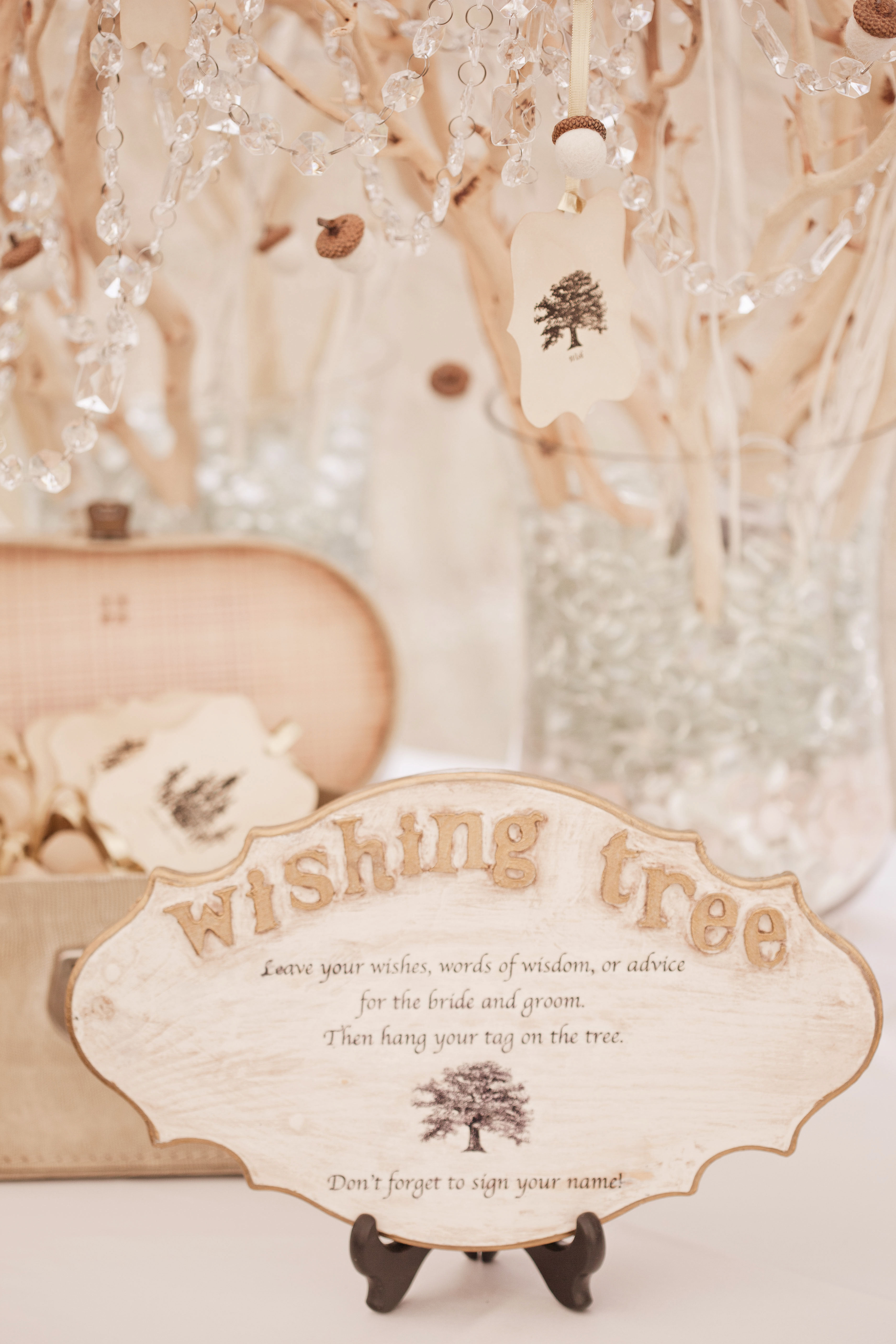 Wedding guest book alternative wishing tree with well wishes from guests