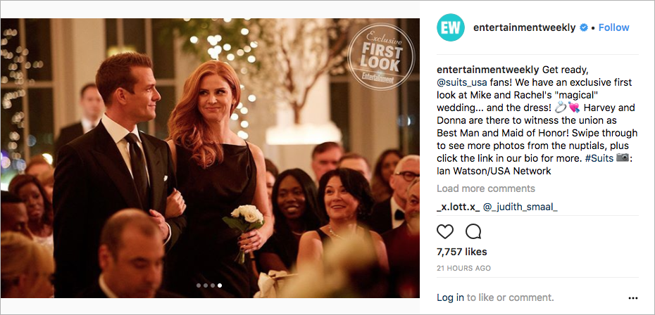 meghan markle wedding, rachel and mike wedding on suits season finale, donna and harvey suits