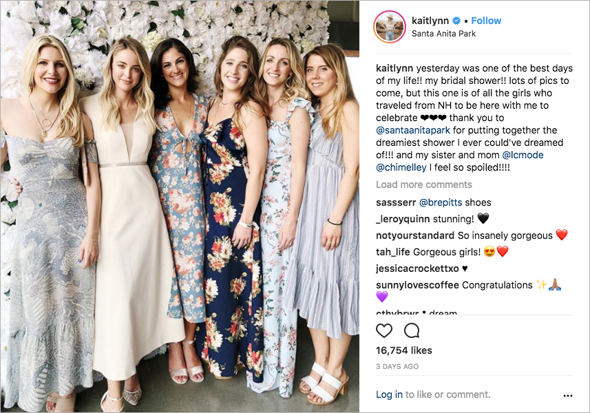 foray clothing founder kaitlynn carter, brody jenner's fiancée, caitlyn jenner, bridal shower at Santa Anita racetrack