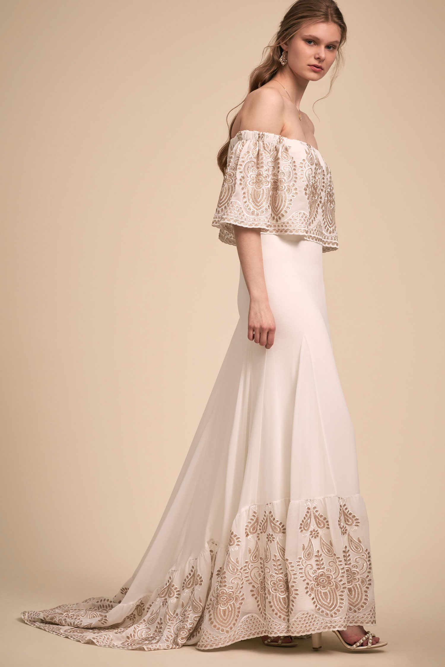 BHLDN The Designer Collective Nomadic by Daughters of Simone boho wedding dress 1970s inspired