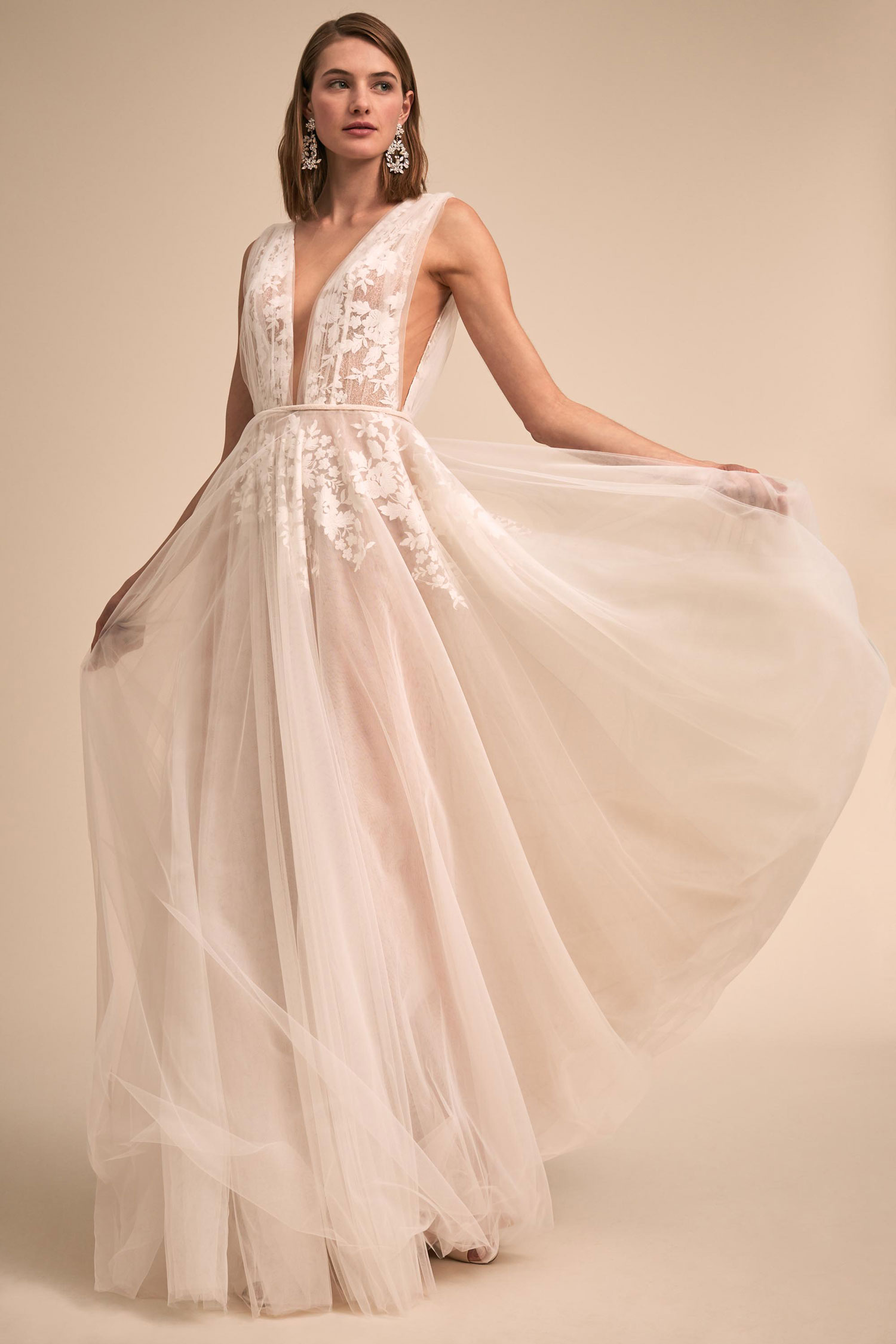 BHLDN The Designer Collective Liz Martinez Abilene gown flower lace tulle wedding dress