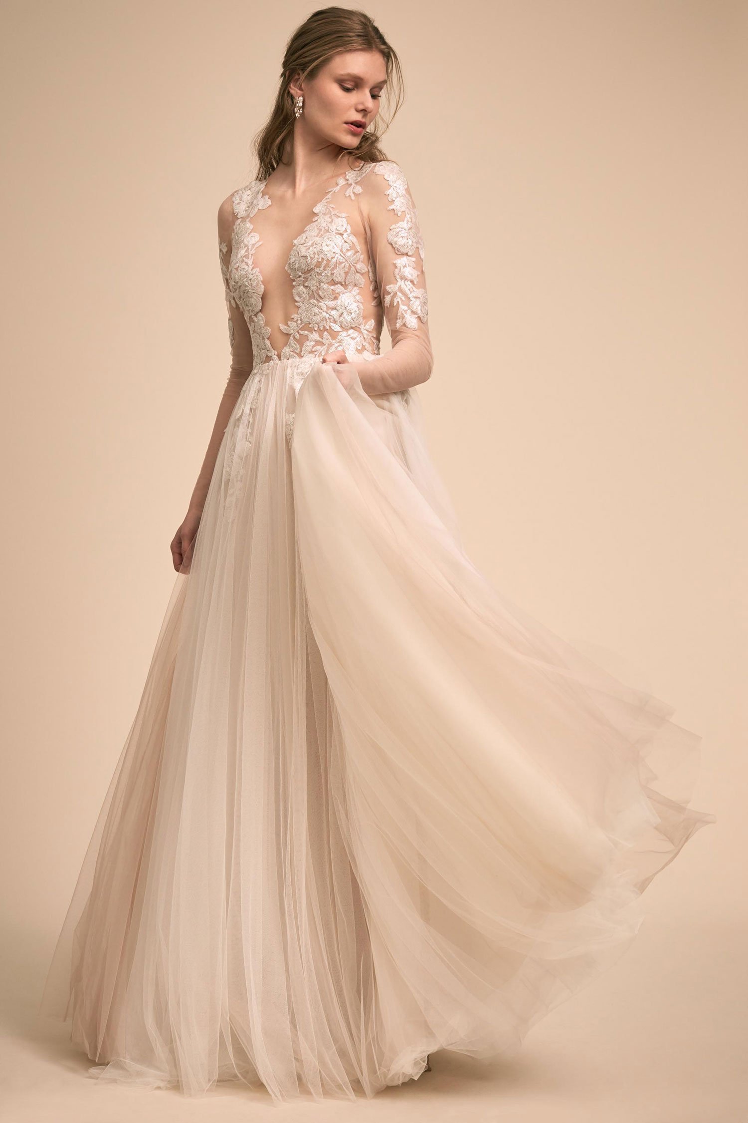 BHLDN The Designer Collective Sondrin long sleeve wedding dress