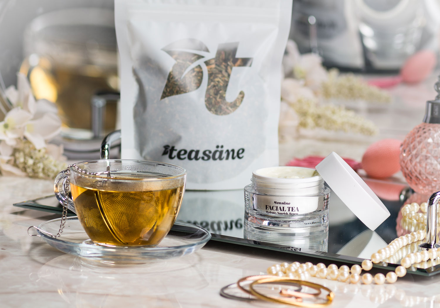 Facial tea herbal face cream from teasane tea brand