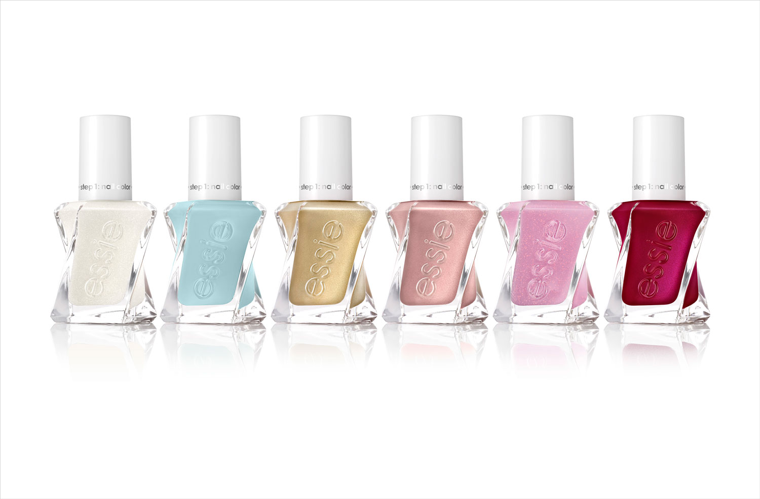 Essie and Reem Acra bridal collection of gel couture nail polish spring