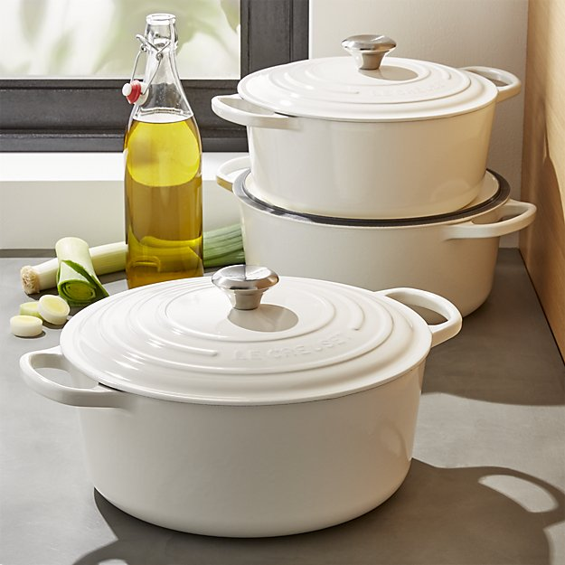 Le Creuset crate and barrel white dutch ovens mother's day gift ideas