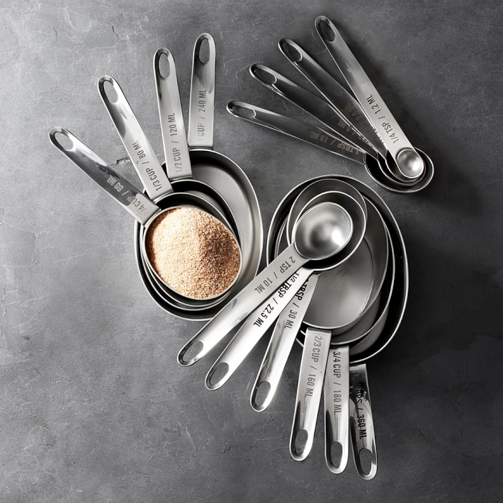 Williams-Sonoma stainless steel nesting measuring cups spoons teaspoons tablespoons mother's day gift ideas