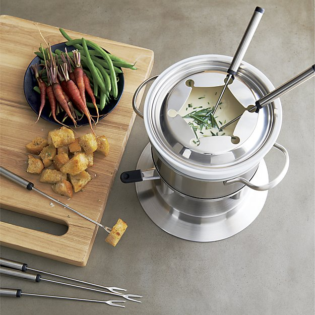 Arosa stainless steel fondue set from crate and barrel mother's day gift ideas