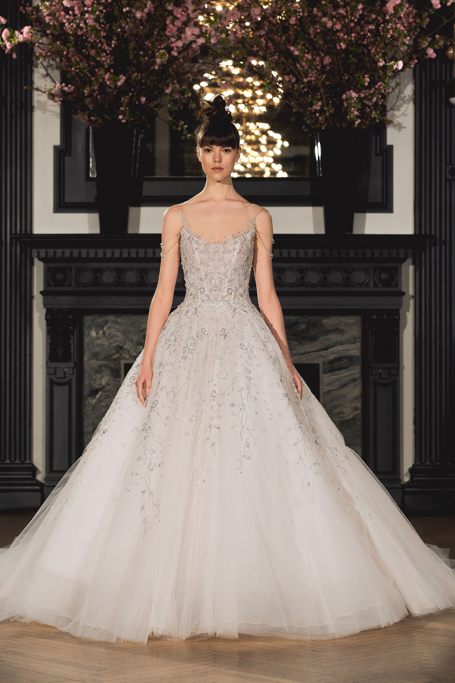 Ballerina style Ines Di Santo embellished ball gown royal wedding dress inspiration