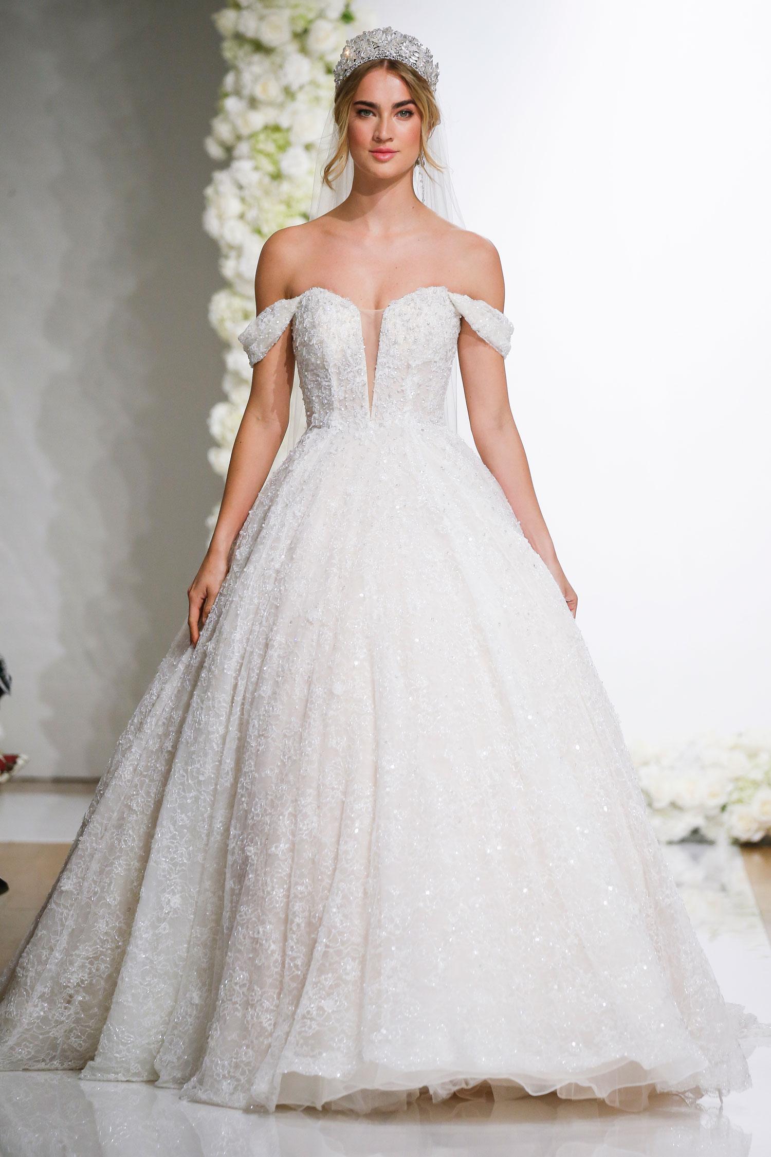 f6e50eaa39ce Morilee by Madeline Gardner off shoulder ball gown royal wedding inspired  dresses