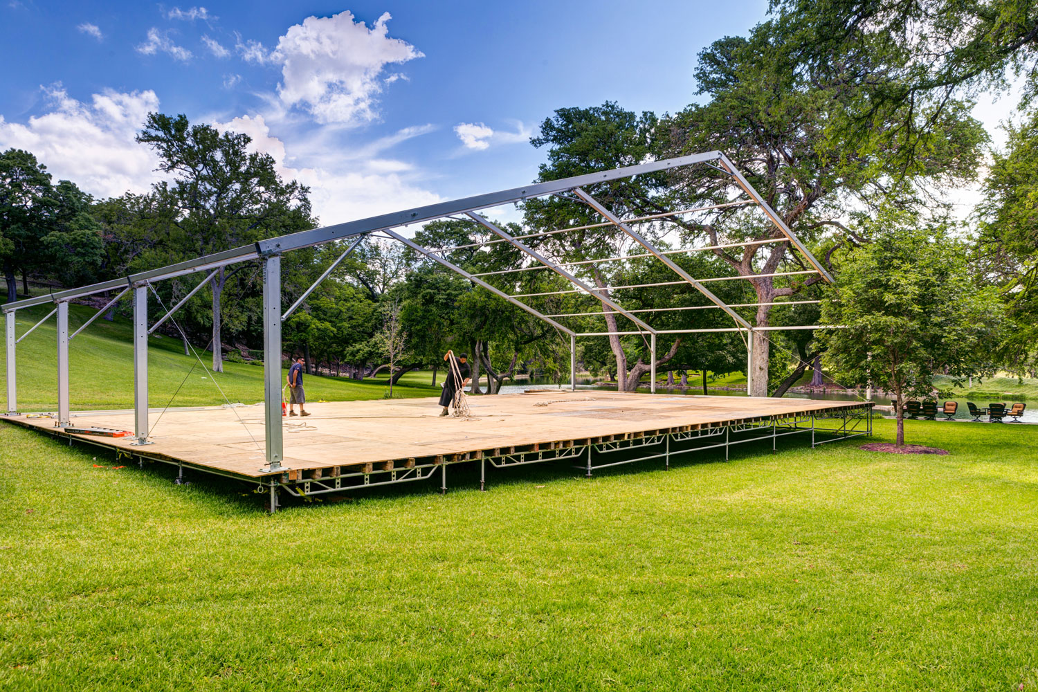 Building an event space from the ground up at a private home or ranch