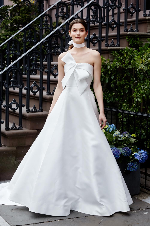 Lela Rose ball gown bow detail silk fabric meghan markle royal wedding inspiration