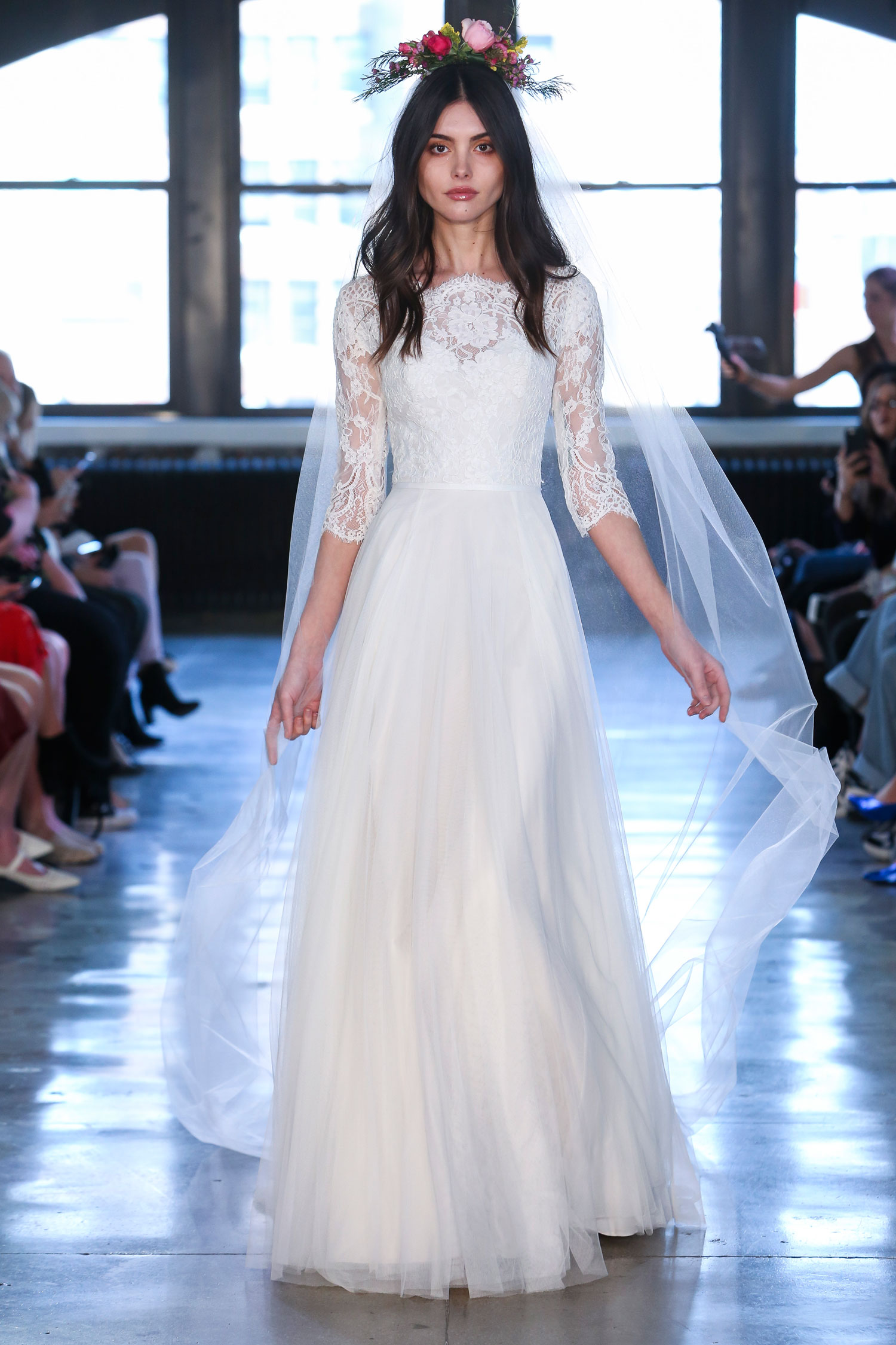 wedding dress from wtoo by watters meghan markle three quarter sleeve inspiration