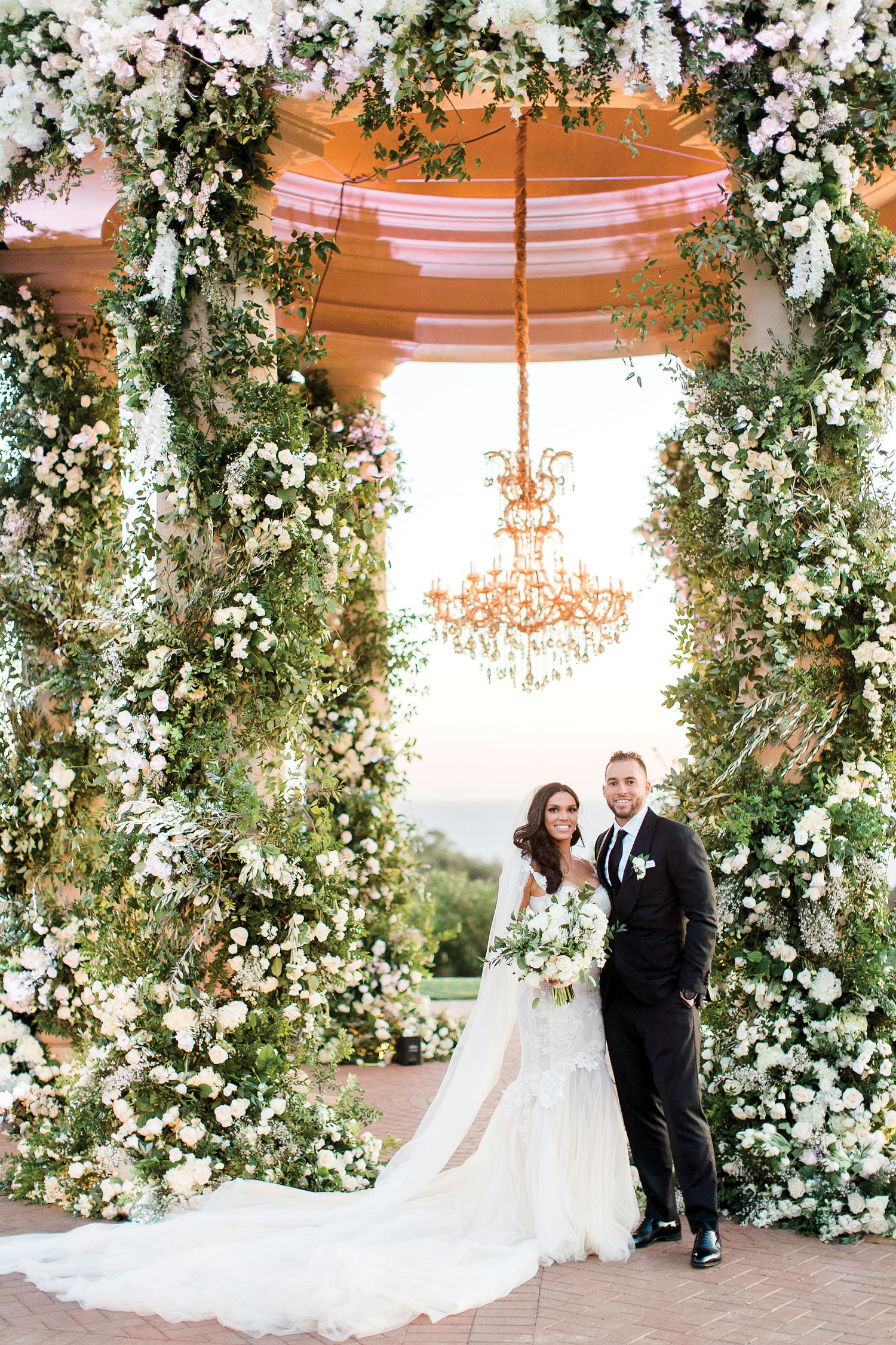 Inside Weddings Summer 2018 issue preview charlise castro and george springer III houston astros player wedding