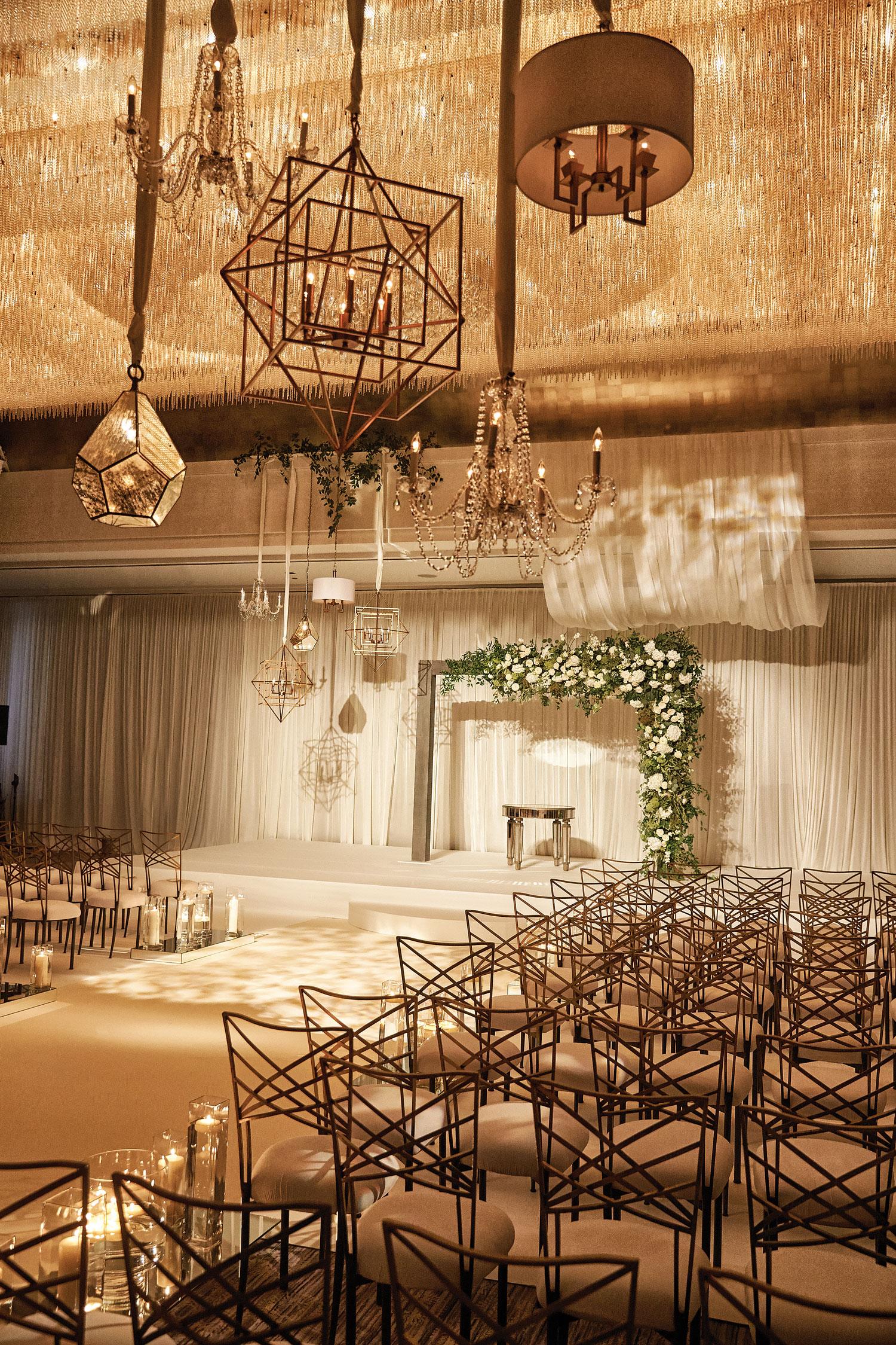 Inside Weddings Summer 2018 issue preview wedding ceremony ballroom terrarium
