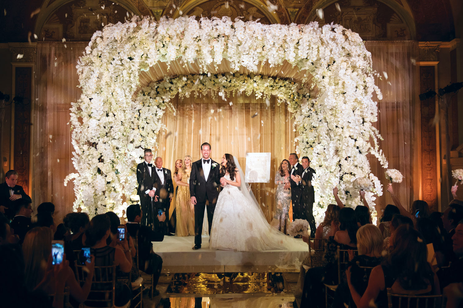 Inside Weddings Summer 2018 issue preview luxury wedding ceremony chuppah