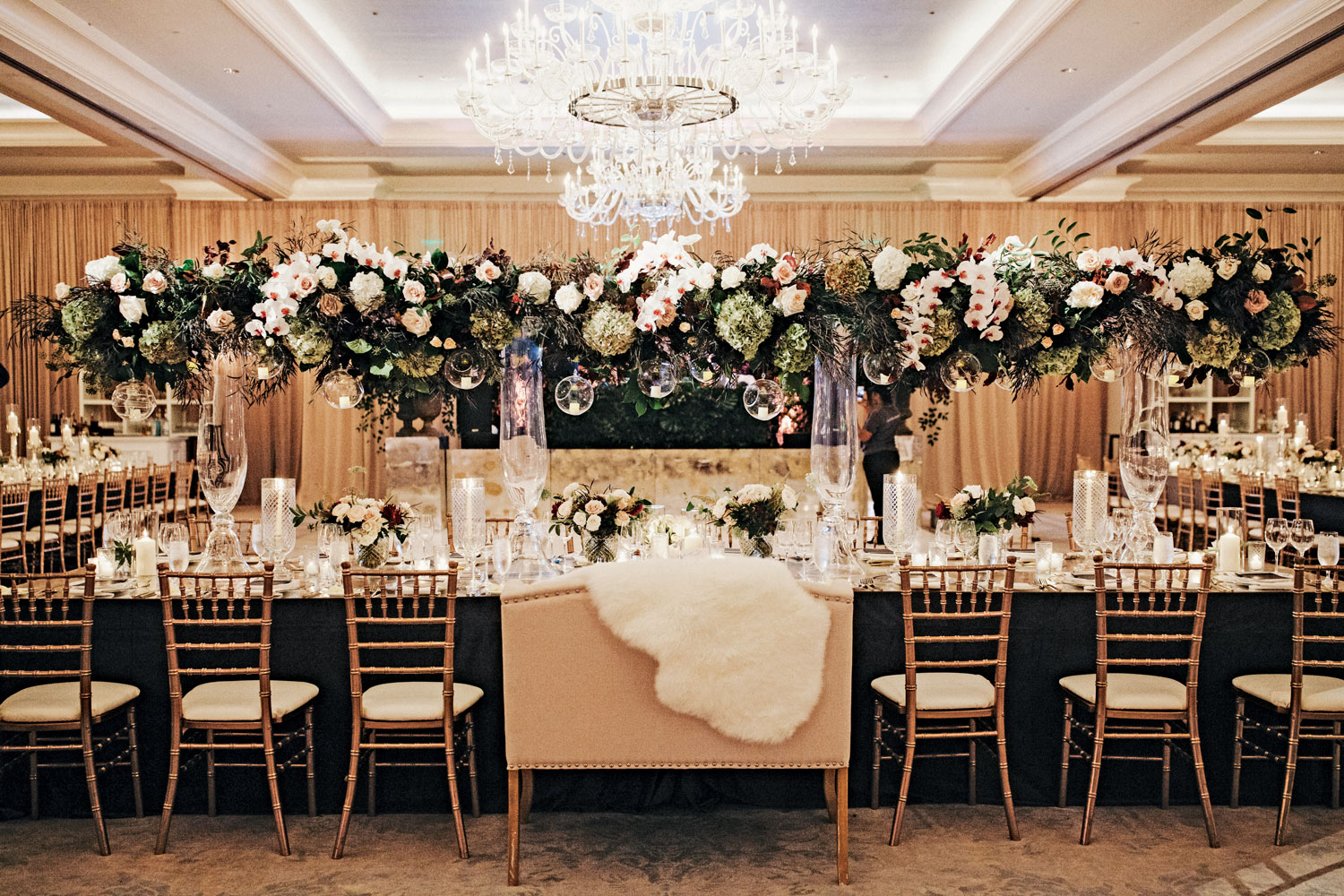 Inside Weddings Summer 2018 issue preview alex wood suzanna villarreal wedding reception table