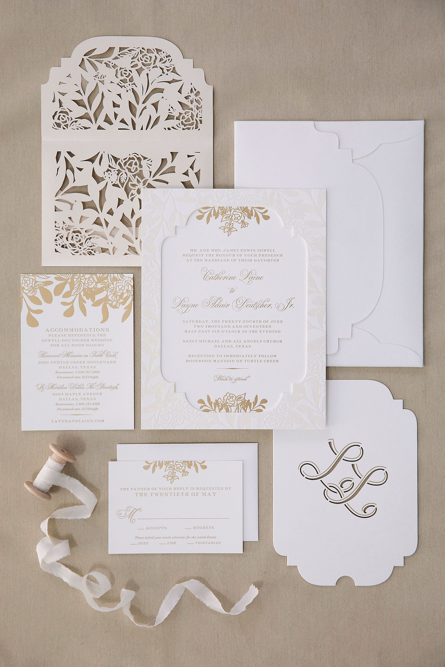 Inside Weddings Summer 2018 issue preview wedding invitation suite