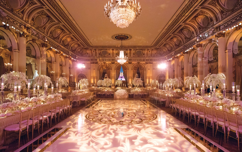 Inside Weddings Summer 2018 issue preview ballroom wedding opulent formal reception