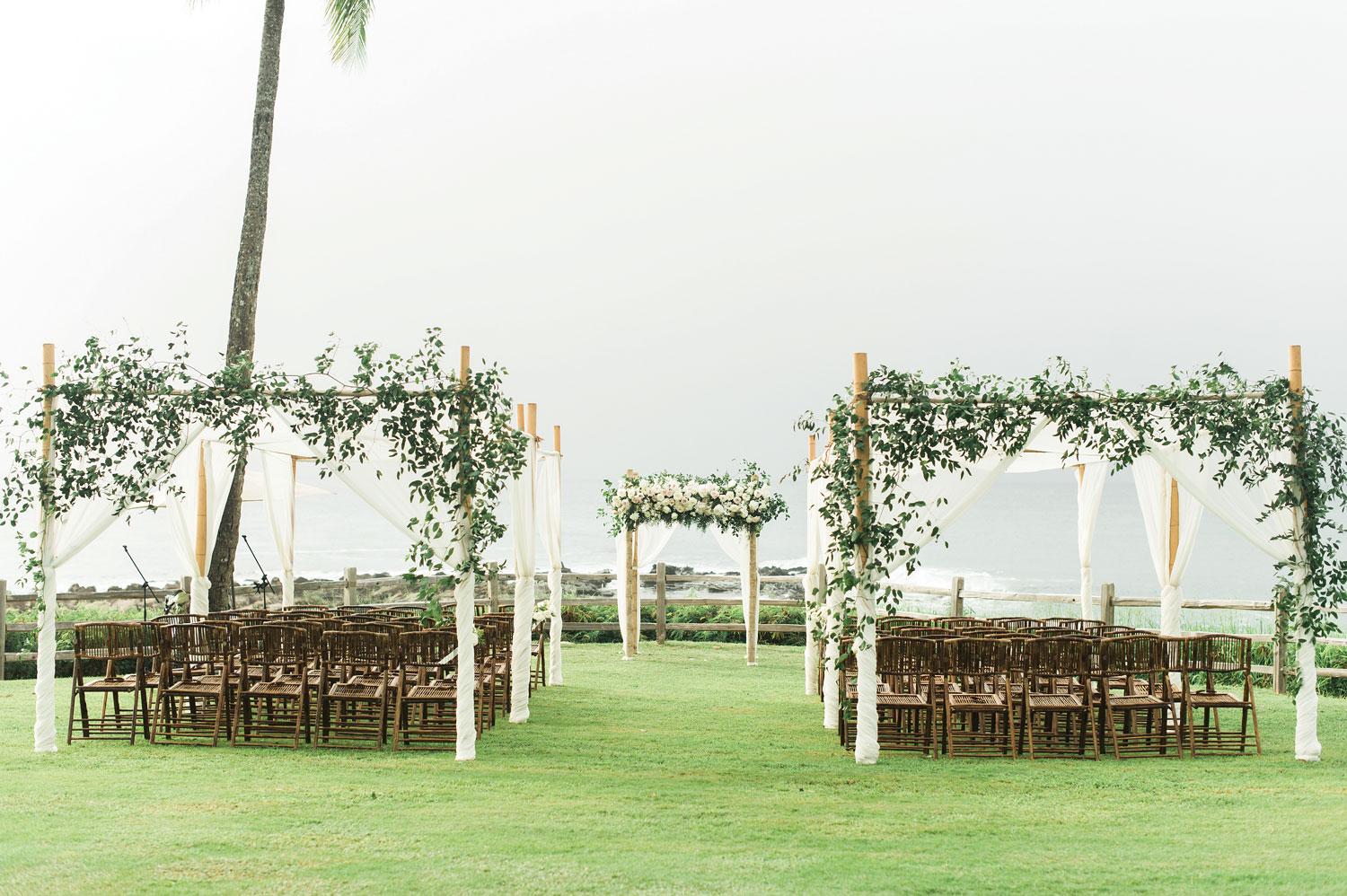 Inside Weddings Summer 2018 issue preview hawaii outdoor wedding ceremony arbors