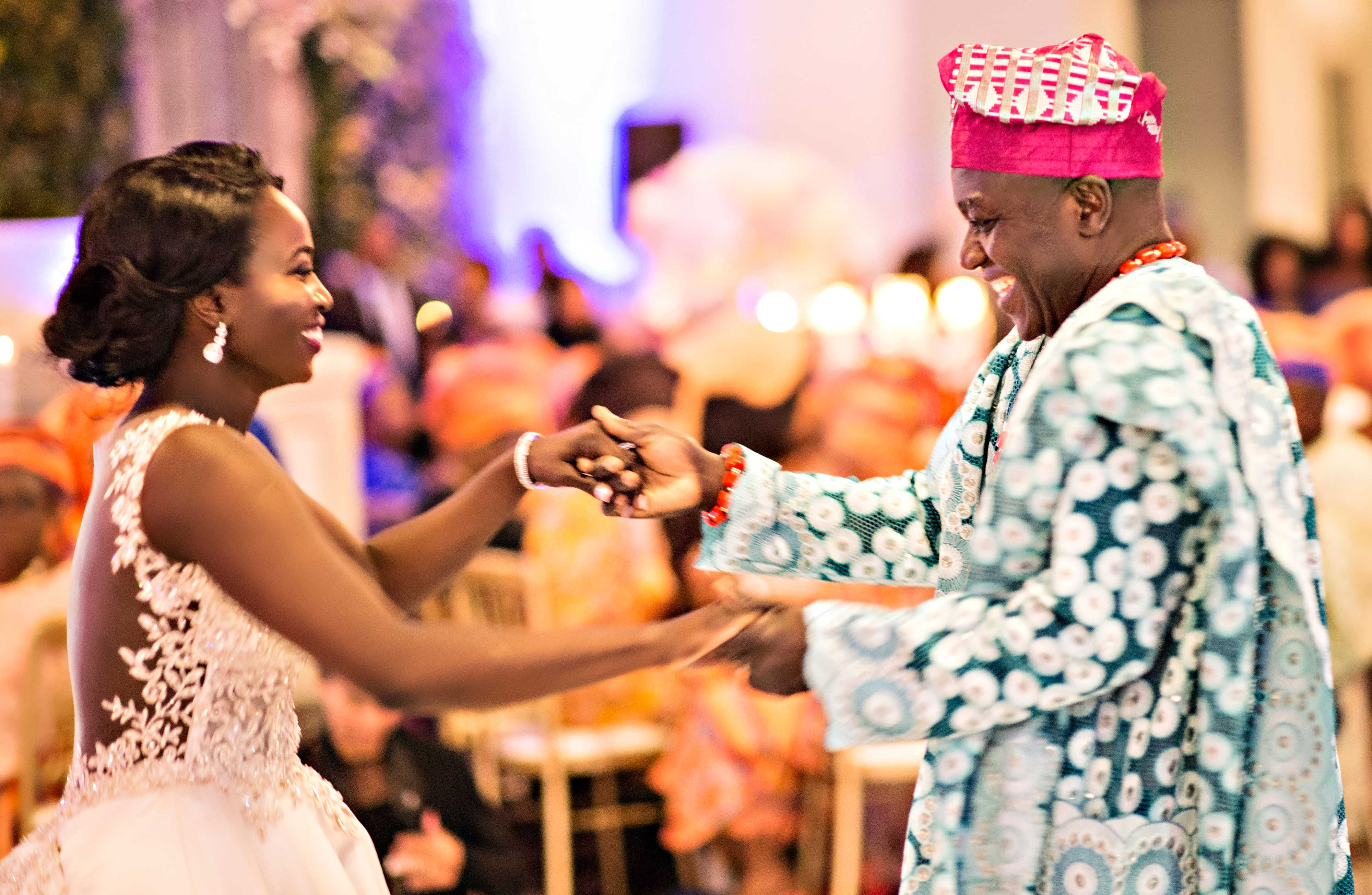 Nigerian wedding traditions garb father daughter dance