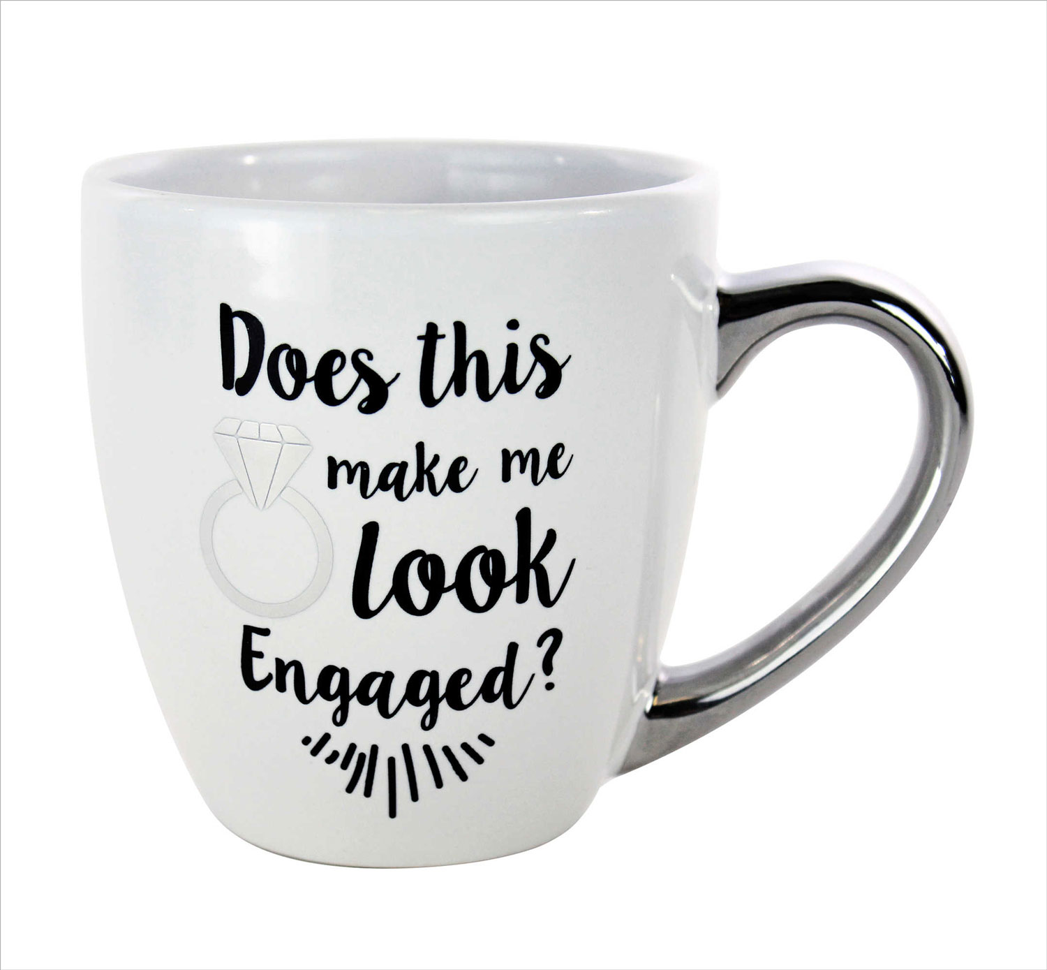 Engagement gift idea engaged friend does this ring make me look engaged coffee mug