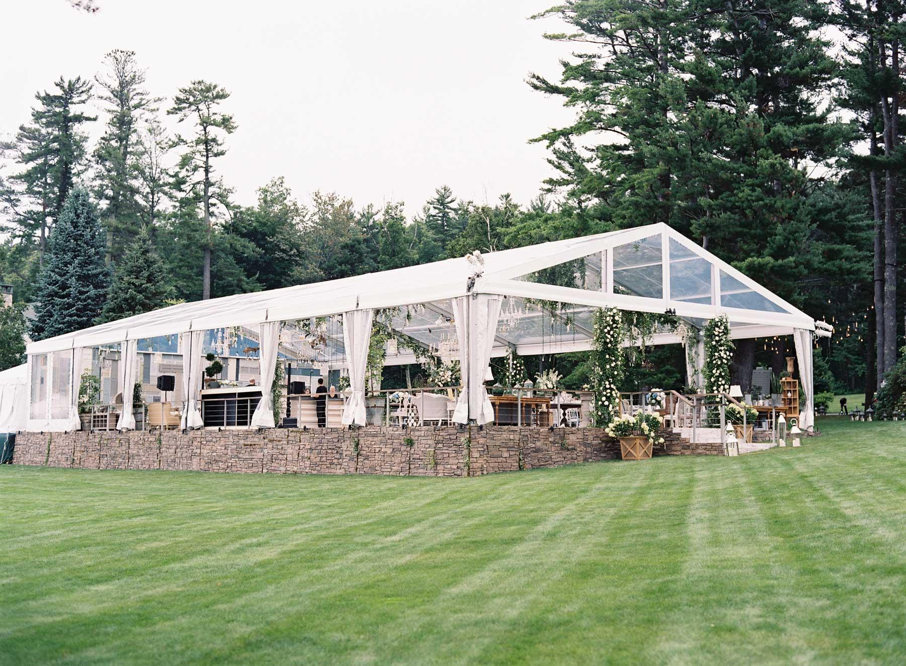 Wedding reception at private home estate tent wedding start from scratch wedding ideas backyard wedding
