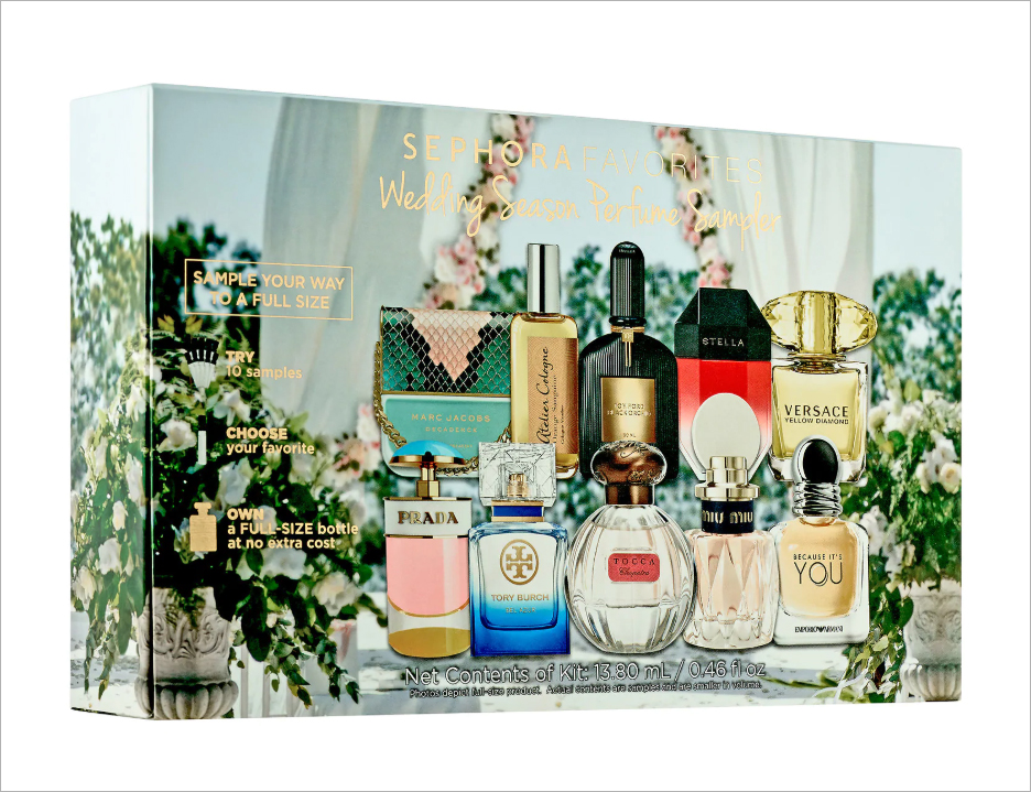 Sephora wedding season perfume fragrance sampler summer wedding beauty product ideas