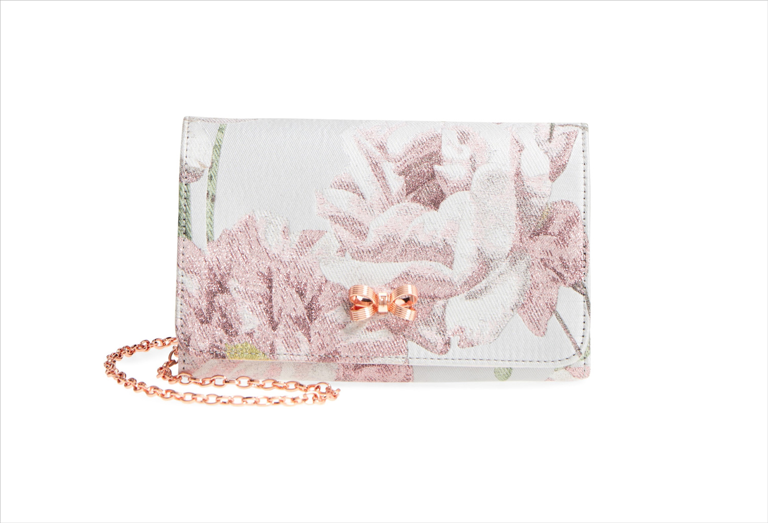Nordstrom anniversary sale erika metallic jacquard flower print evening bag by ted baker london