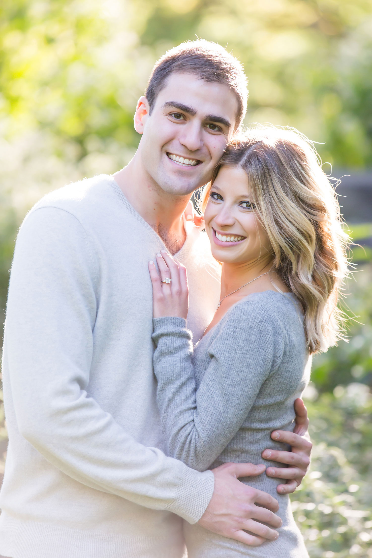 Engagement shoot ideas outfit grey sweaters new york city central park