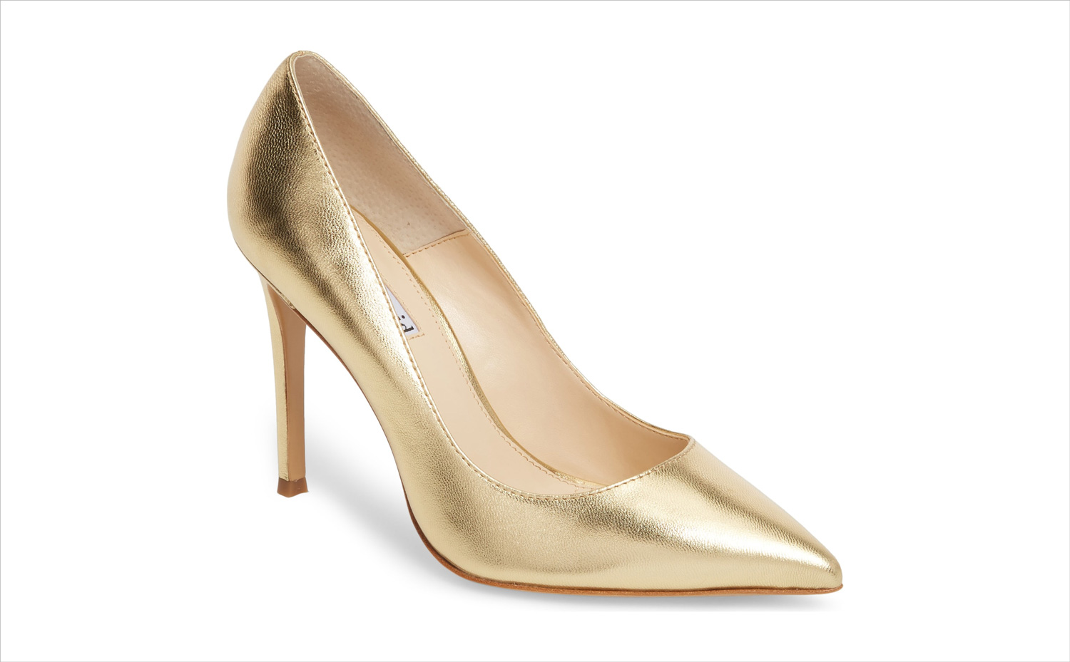 Nordstrom anniversary sale gold calessi pointy toe pump heel by charles david wedding shoe ideas