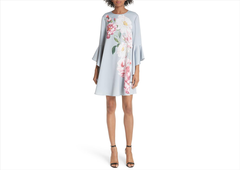 nordstrom anniversary sale sayda iguazu shift dress flower print from ted baker london bridal shower wedding guest dress ideas