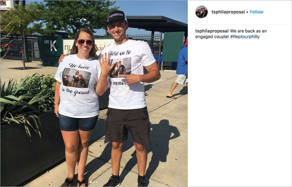 fan proposes at taylor swift concert, engagement with taylor swift, guy proposes in front of taylor swift