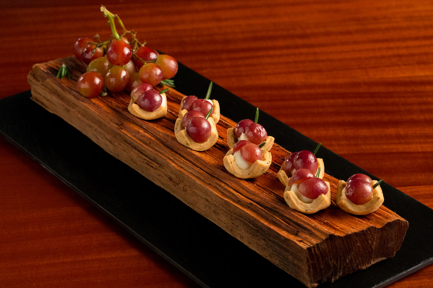 Goat cheese and grape tarts from The Breakers entertaining appetizer ideas small bites bite size snacks