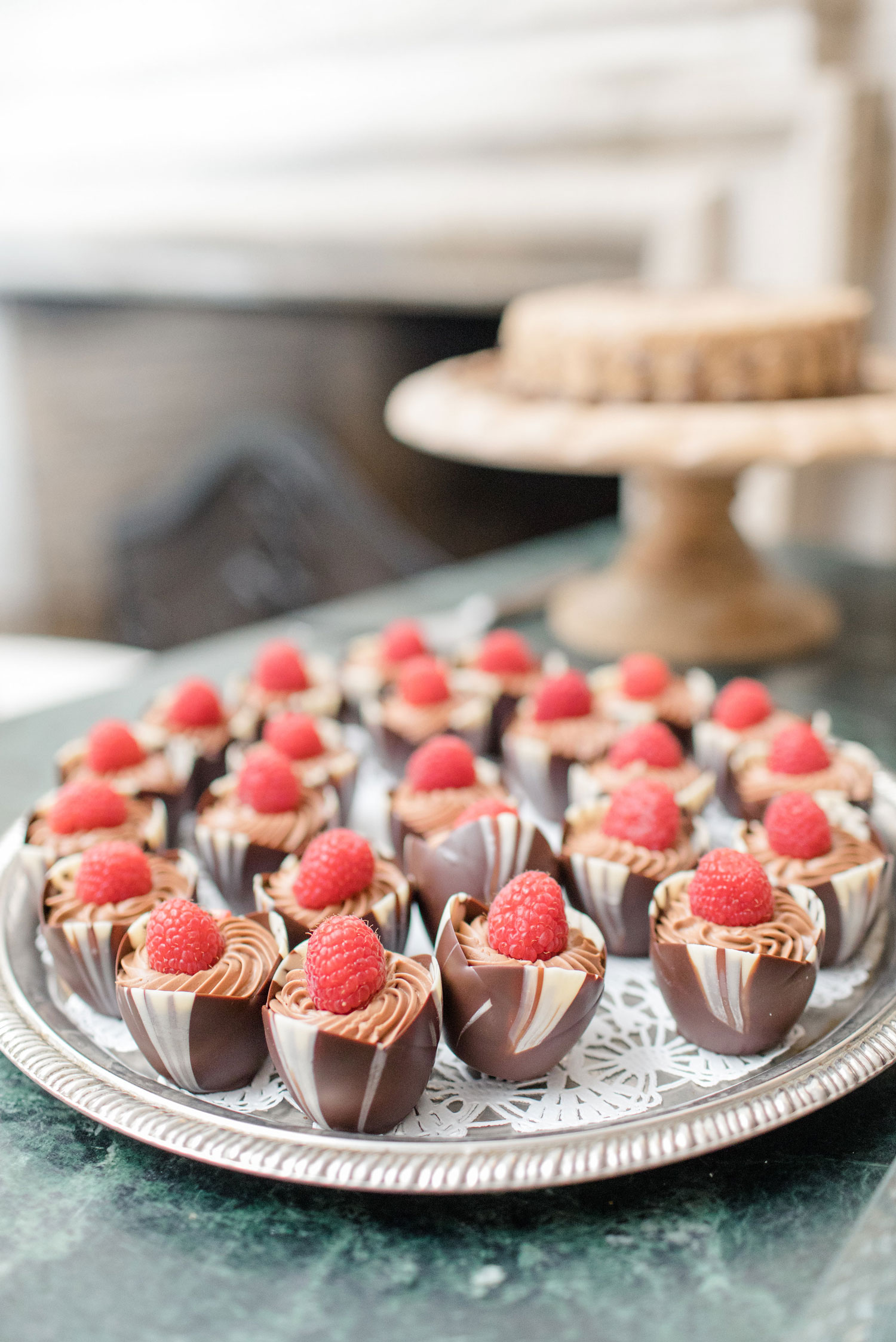 Chocolate Mousse recipe small bite summer party ideas entertaining tips wedding dessert options