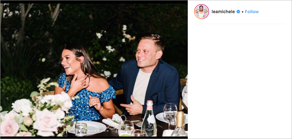 lea michele & zandy reich engagement party