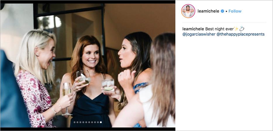 lea michele & zandy reich engagement party, joanne garcia swisher