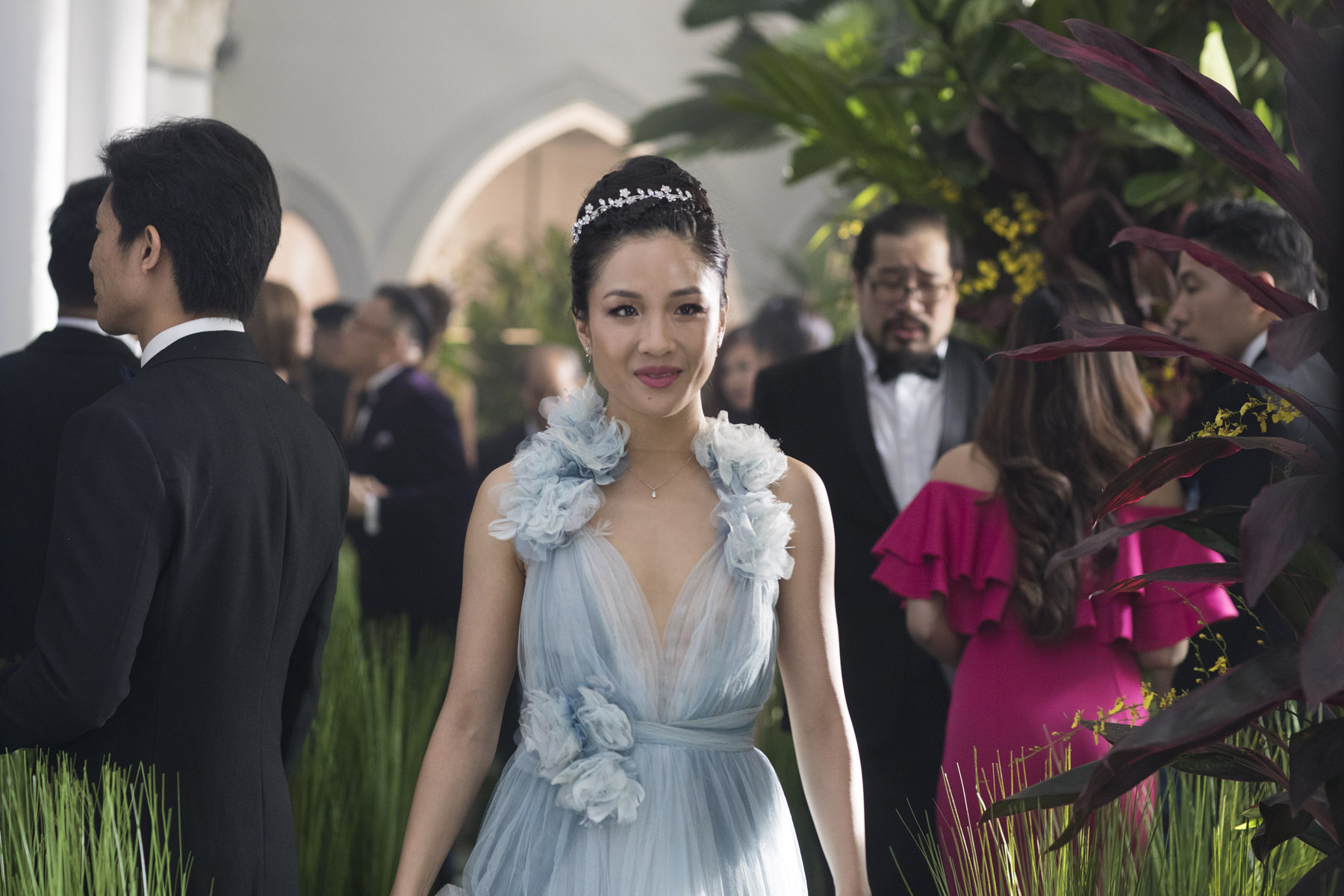 Constance Wu as Henry Golding's date for best friend's wedding in Crazy Rich Asians wedding scene