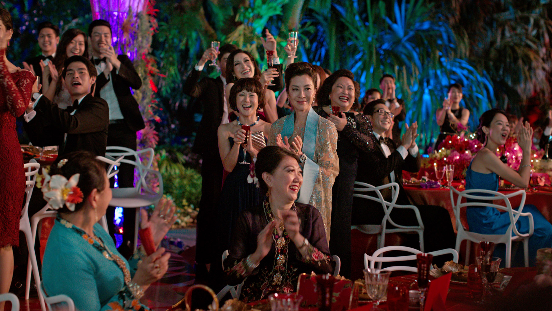 Michelle Yeoh as Henry Golding's mom for wedding in Crazy Rich Asians wedding scene