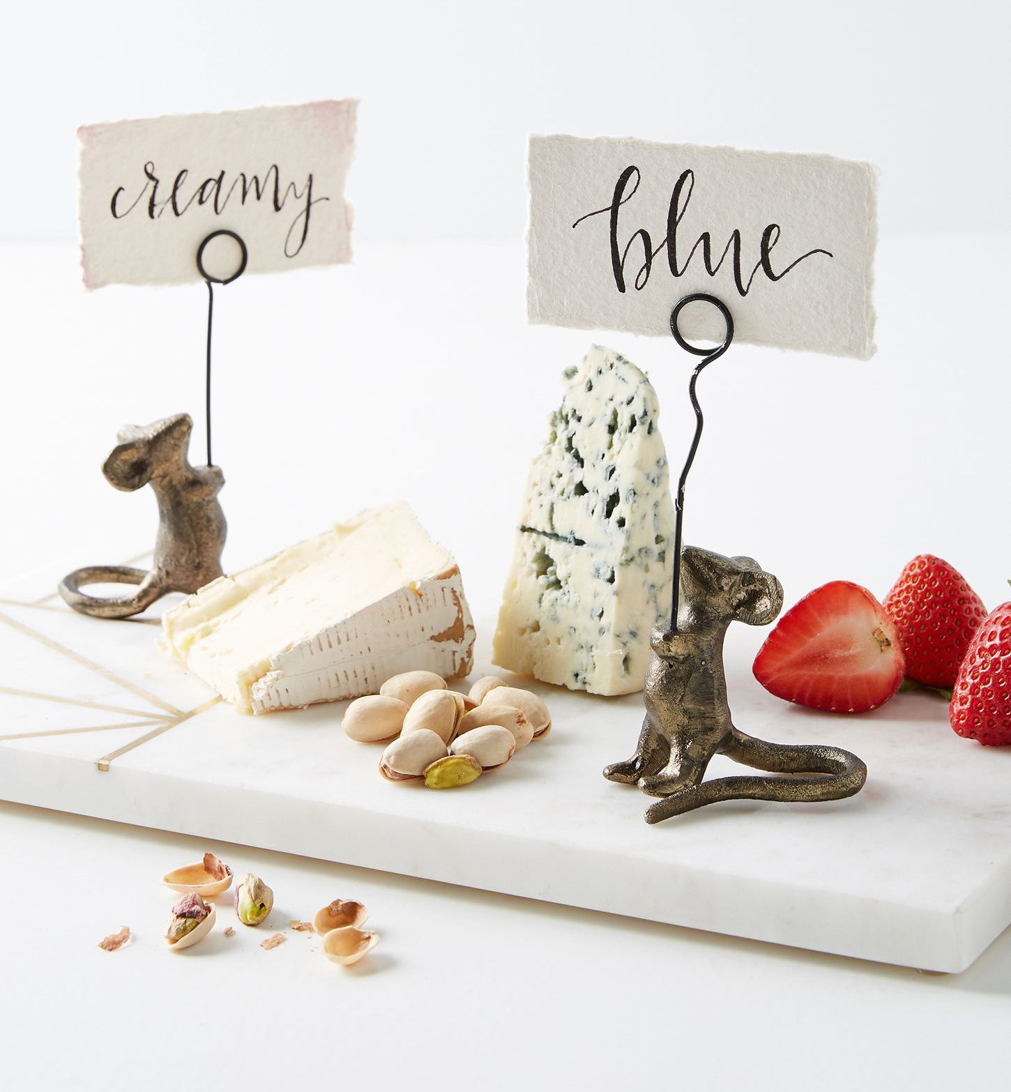 Little mouse place card holder anthropologie cheese name stick wedding event party accessories ideas