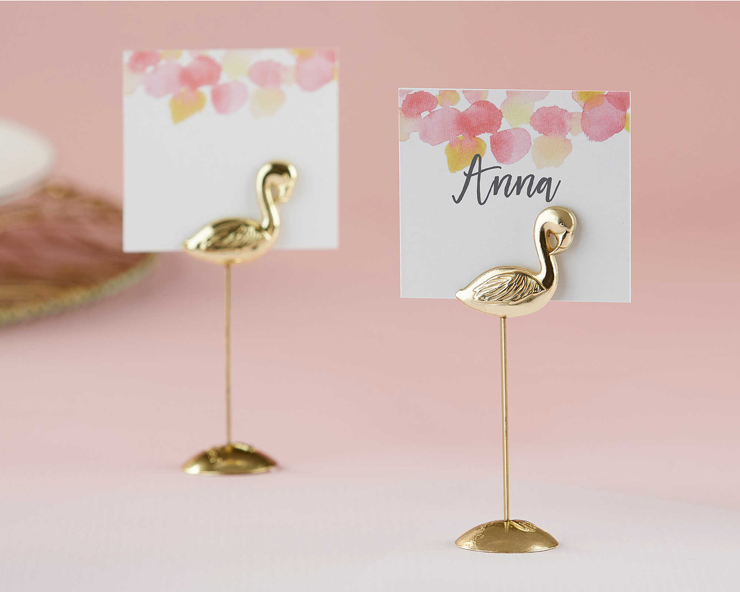 Flamingo place card holder wedding event party ideas accessories tropical beach theme