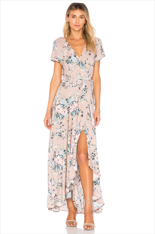 Scarlett wrap maxi dress Tularose honeymoon outfit ideas