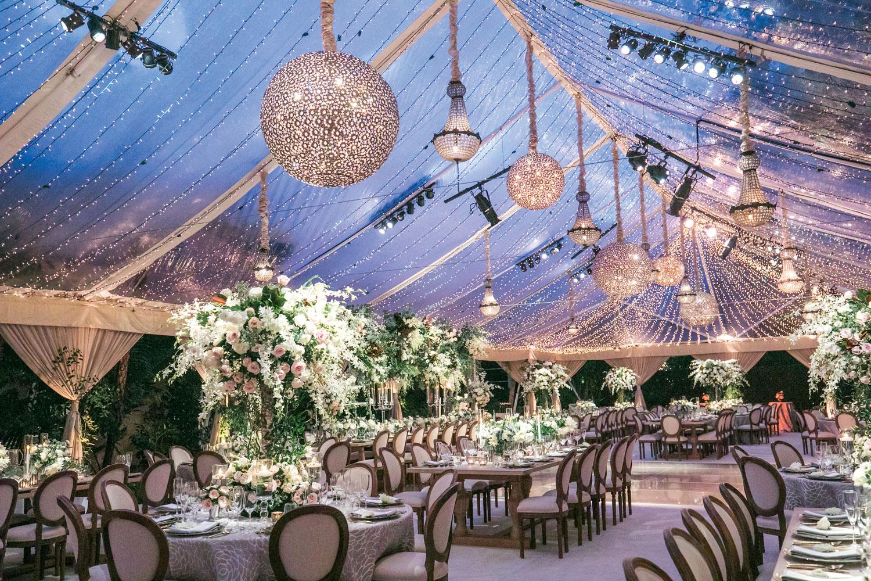 Beautiful clear tent wedding reception luxury wedding eddie zaratsian international event company Inside Weddings fall 2018 issue