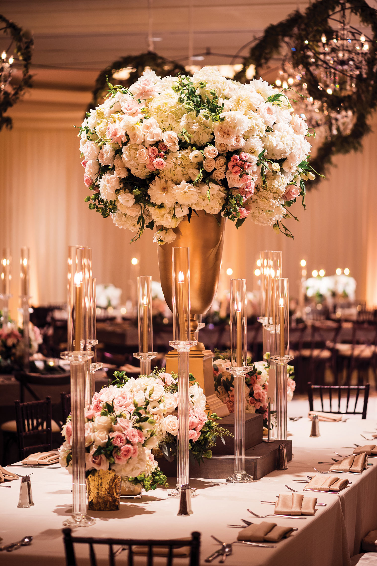 Luxury south asian wedding reception in california nahid's global events Inside Weddings fall 2018 issue