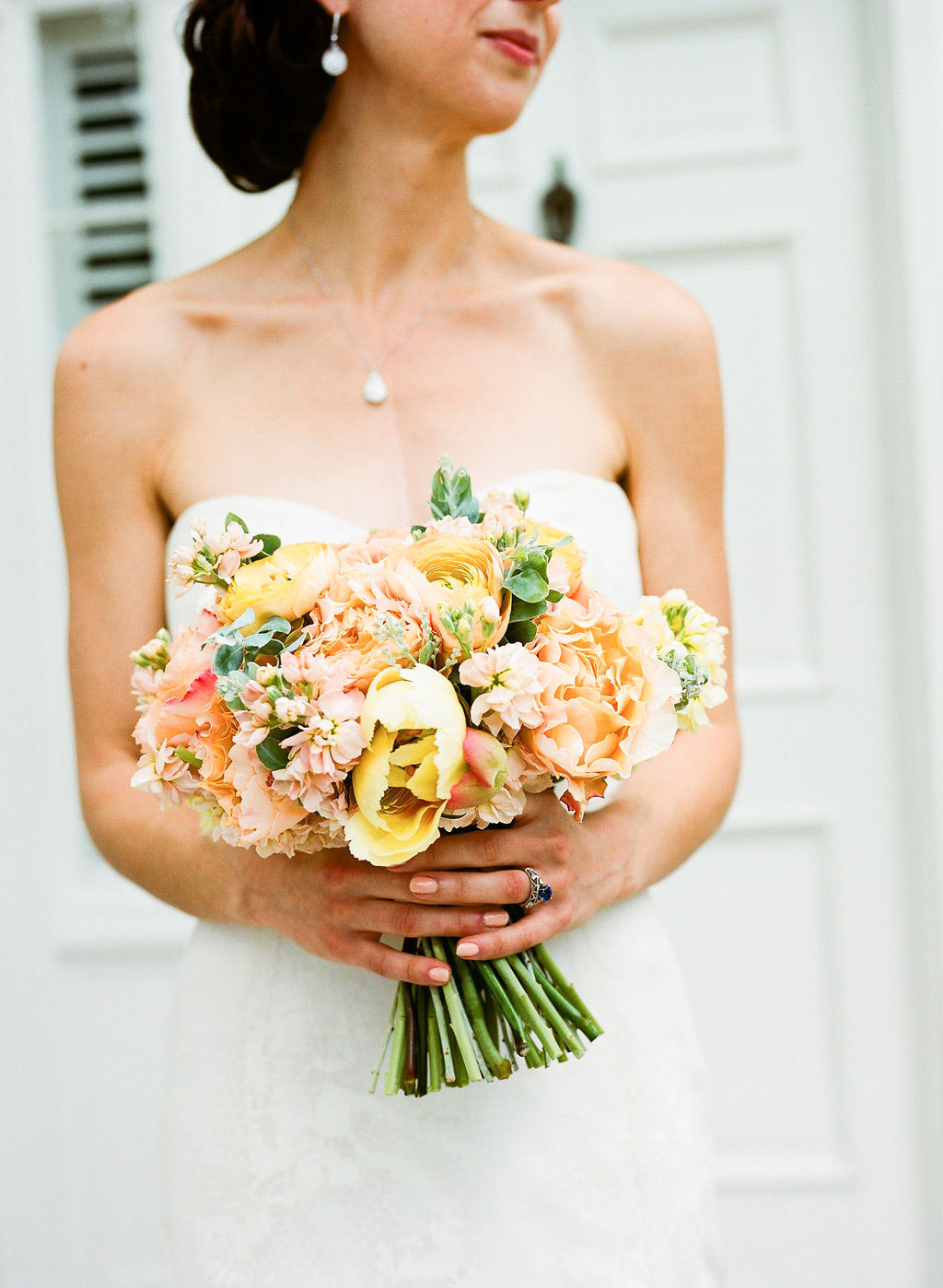 Fall wedding bouquet ideas yellow and orange flowers ilana ashley events