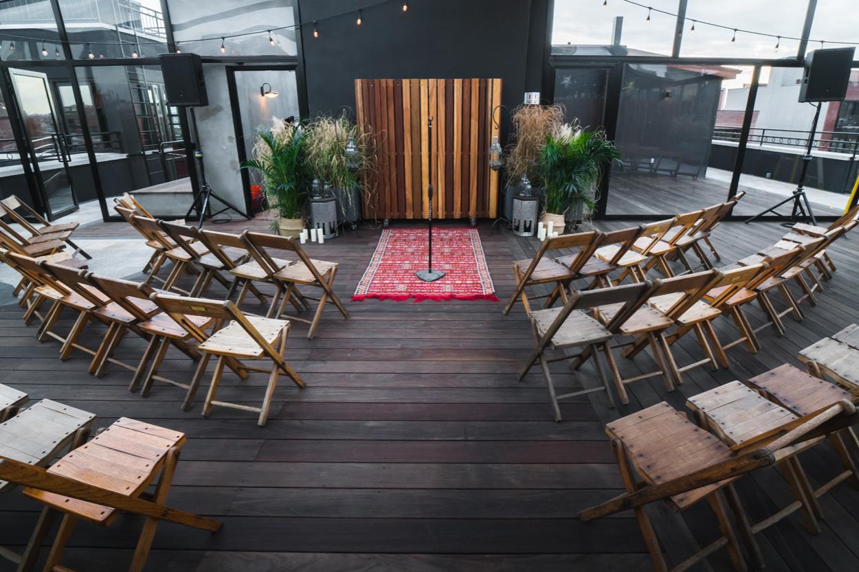 the box house hotel wedding ceremony, brooklyn wedding